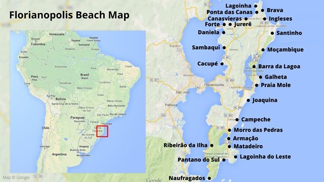 Florianopolis beach map