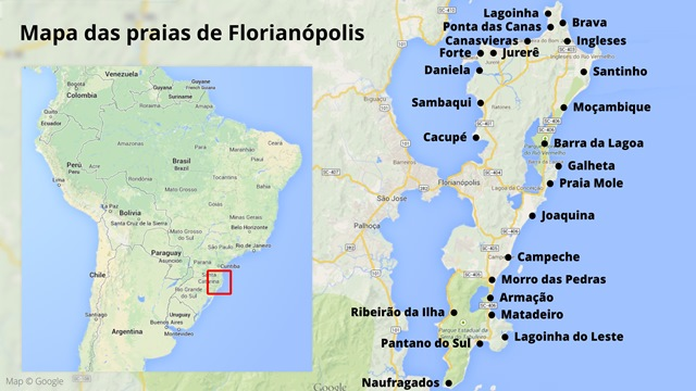 Mapa das Praias