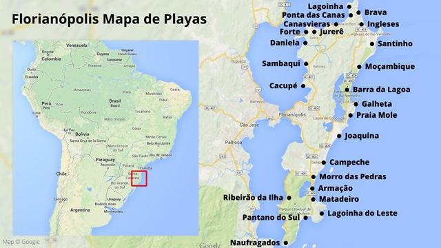 Mapa de Playas